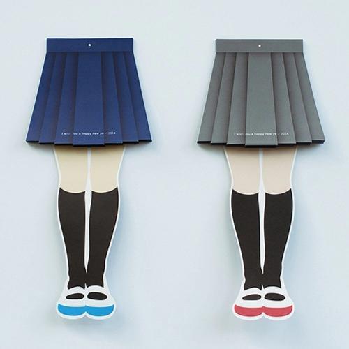 你们的节操呢!?11区岛民设计出「掀裙式挂历」