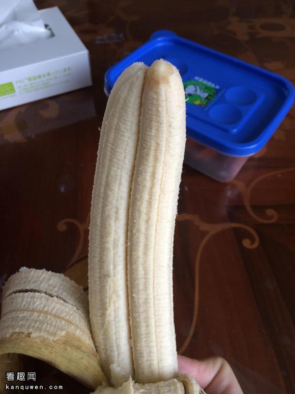 2ch翻译:在冰箱里找到了一根畸形香蕉wwwww