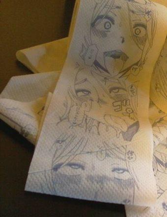 2ch翻译:等等...?如果在厕纸上印上黄漫的话不是能大热卖么?