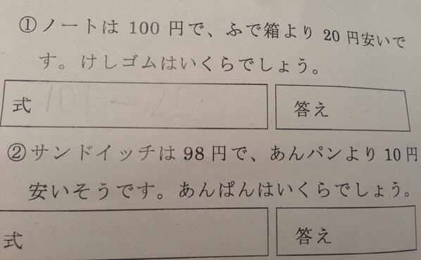 2ch翻译:弟弟考试的题目难过头了wwwww