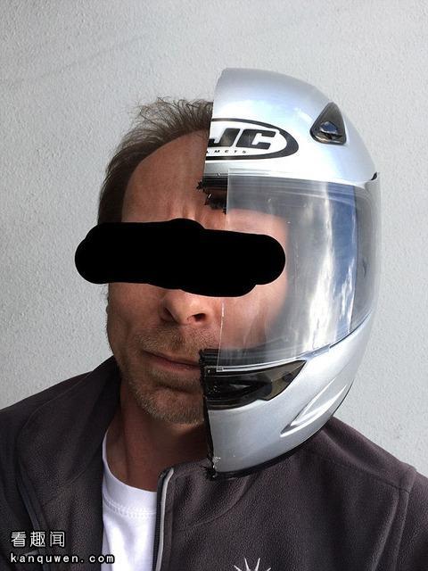 锯成一半的头盔