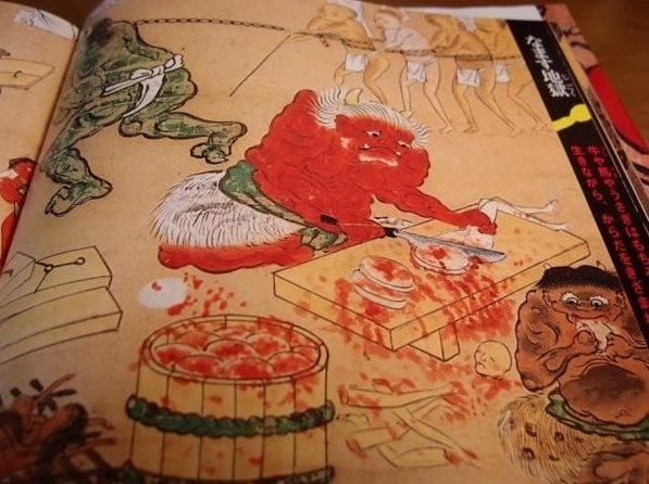 【重口慎入】日本画本《地狱》, 吓得小孩子哭都不敢哭